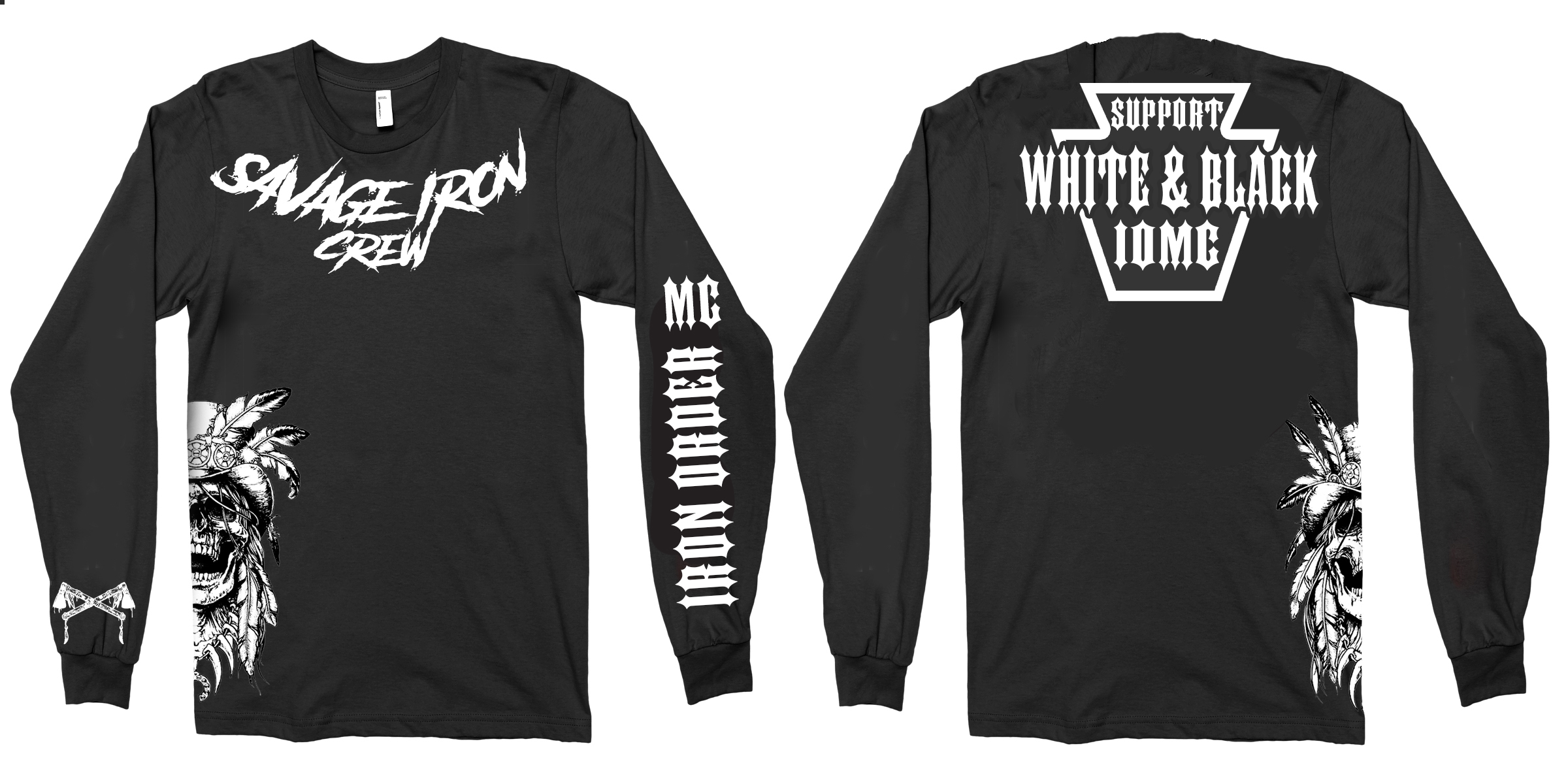 Support Iron Order MC - Long Sleeve T-shirt